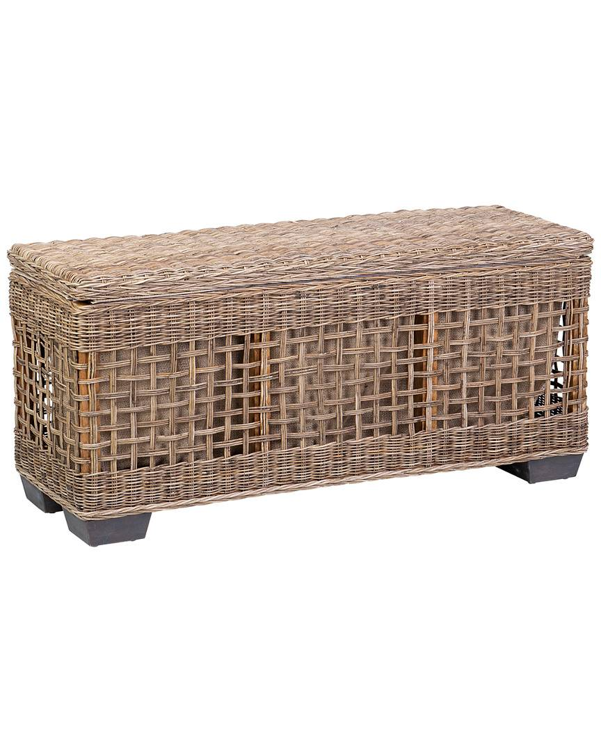 East at Main's Kalila Rattan Bench   - Size: NoSize