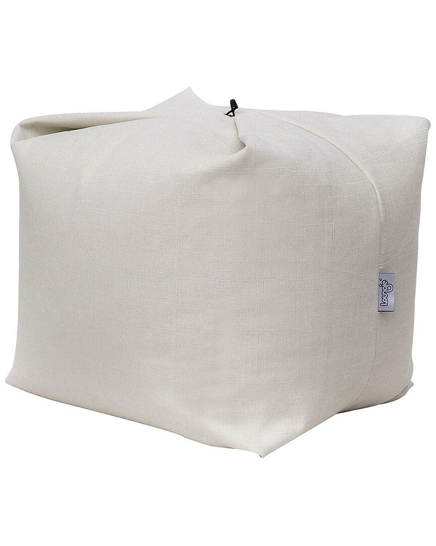 Loungie Magic Pouf Linen Bean Bag   - Size: NoSize
