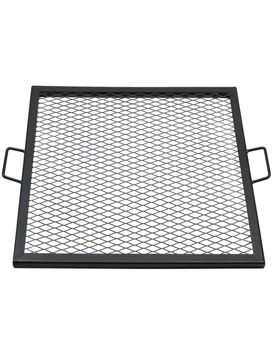 Sunnydaze Cooking Grate X Marks Heavy-Duty Steel Square Fire Pit Grill  -Black - Size: NoSize