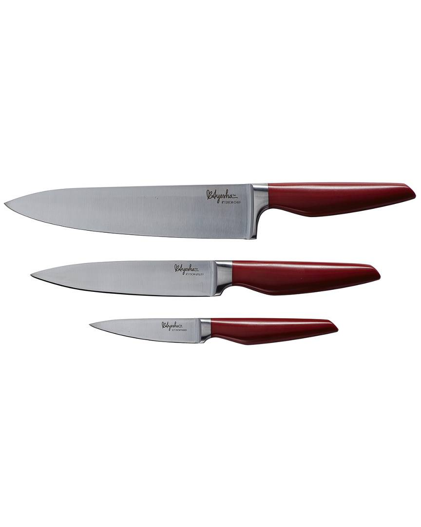 Ayesha Curry Ayesha Home Collection Japanese Steel Cooking Knife Set   - Size: NoSize