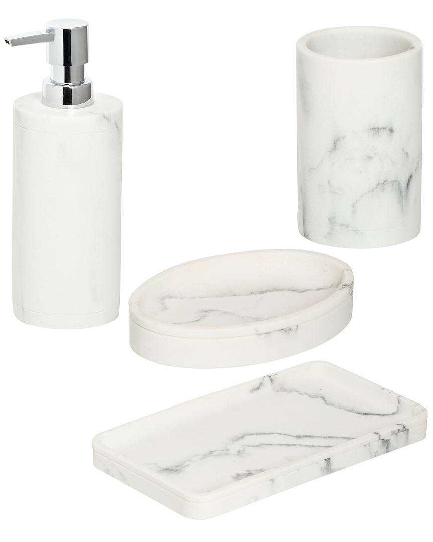honey can do Honey-Can-Do Marble Bath Accessory Set   - Size: NoSize