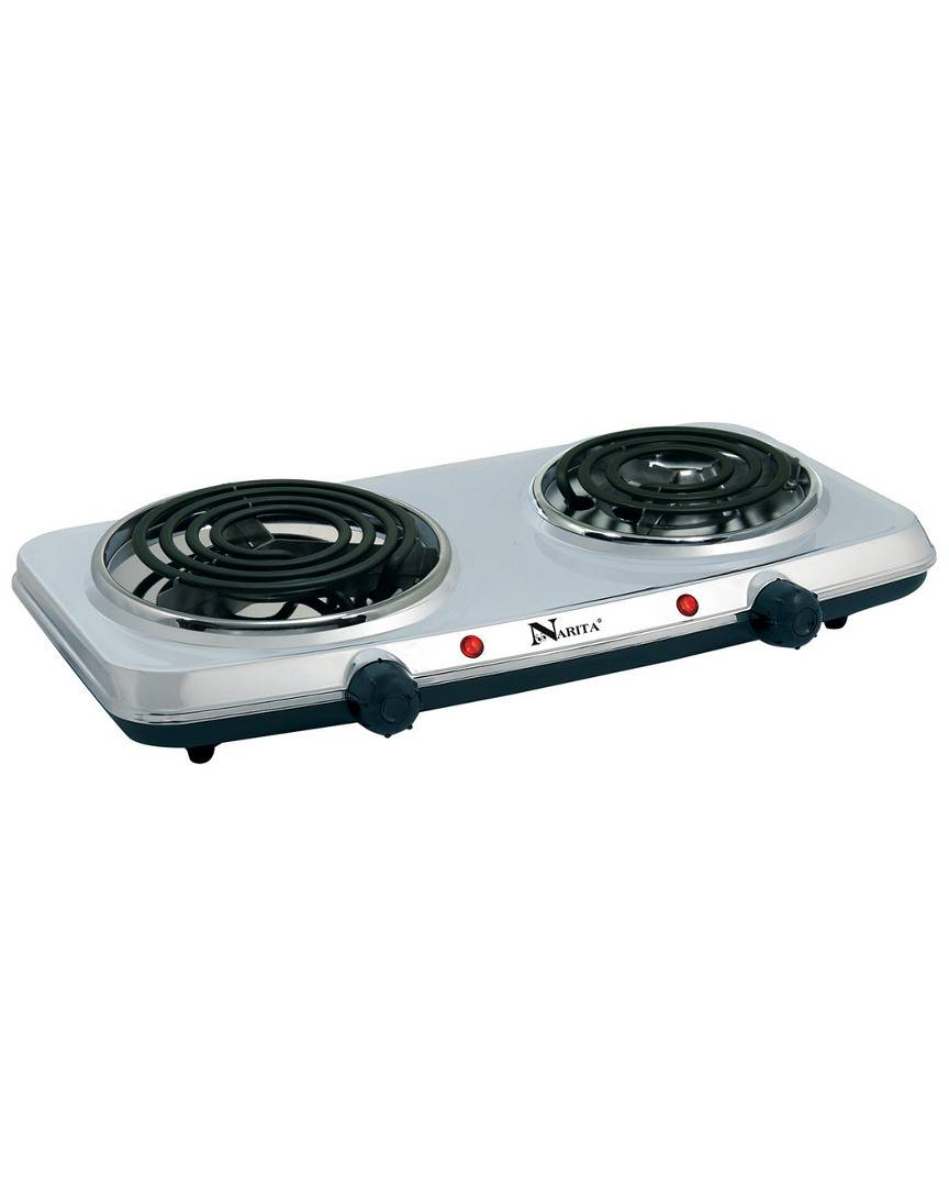 Narita Stainless Steel Electric Double Burner   - Size: NoSize