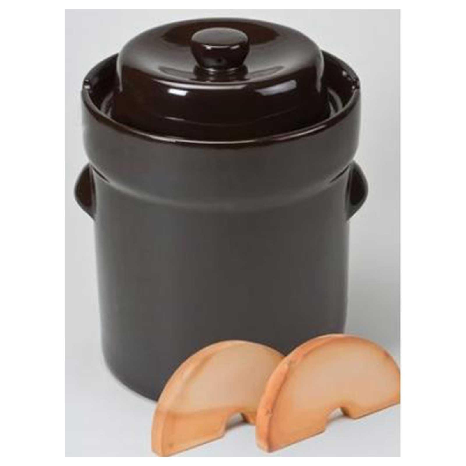 Schmitt Nik Schmitt German Pickling Fermenting Vegetable Crock Pot- 10 Liter