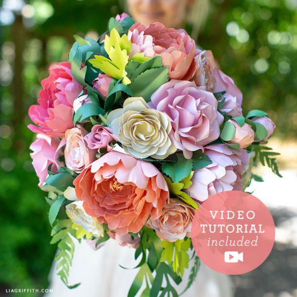 1 Vintage Garden Bridal Bouquet Bundle