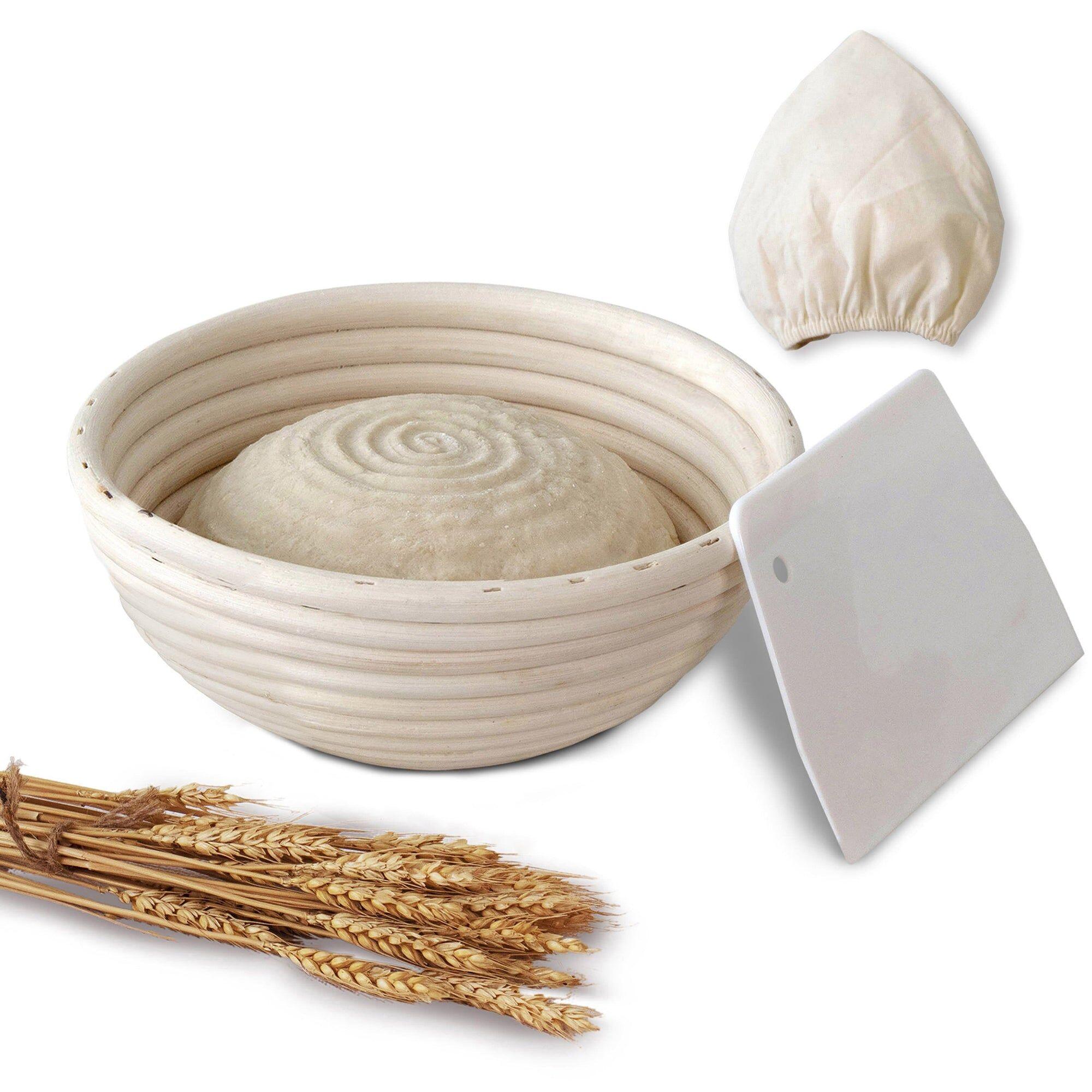 MadeTerra 10-inch Round Banneton Bread Proofing Basket Set