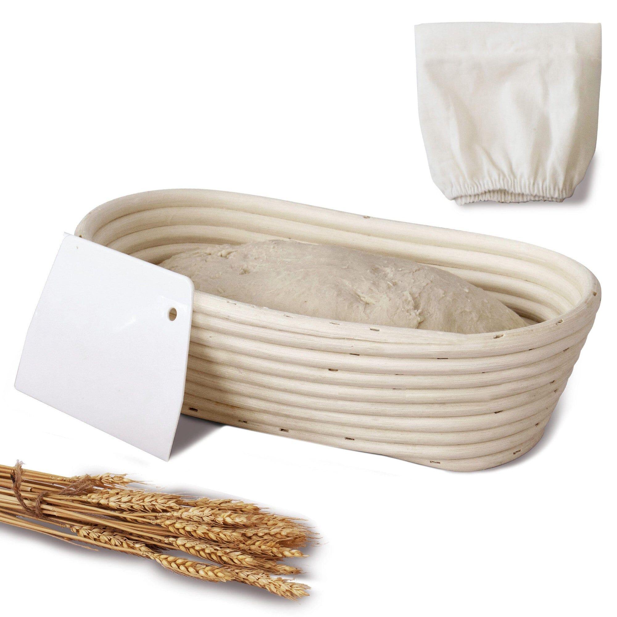 MadeTerra 11-inch Oval Banneton Bread Proofing Basket Set