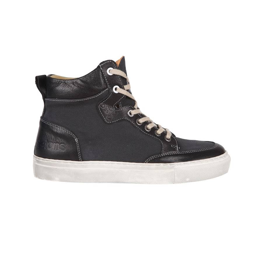 Helstons Kobe Canvas Armalith Leather Grey Black Shoes 39