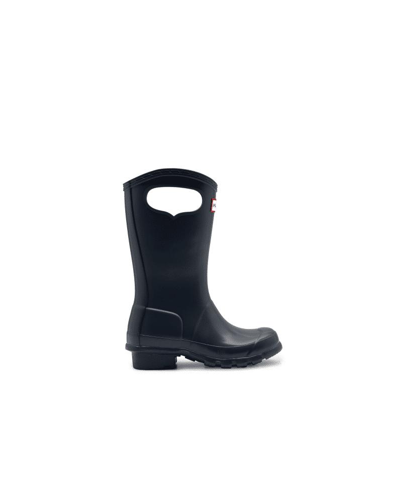 Hunter Boots Original Kids Grab Handle Rain Boots  - Blue - Size: US 2