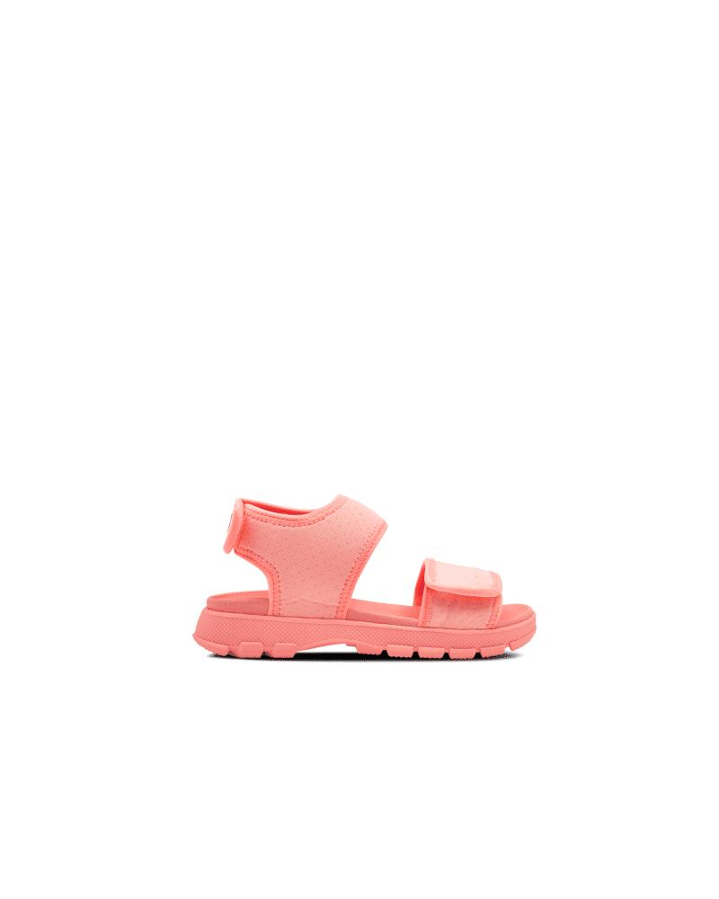 Hunter Boots Original Big Kids Outdoor Walking Sandal  - Pink - Size: US 1