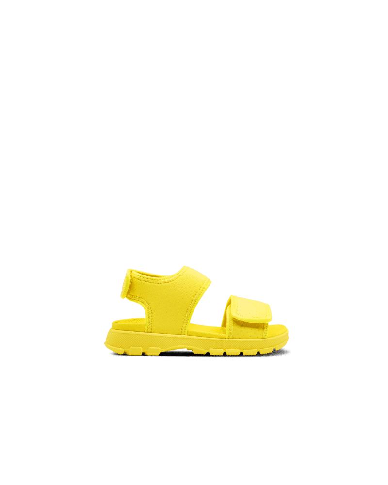 Hunter Boots Original Big Kids Outdoor Walking Sandal  - Yellow - Size: US 3