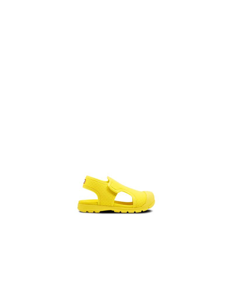 Hunter Boots Original Little Kids Outdoor Walking Sandal  - Yellow - Size: US 5