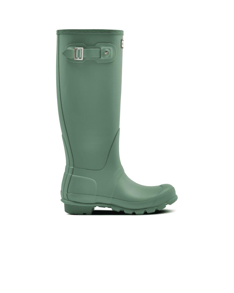 Hunter Boots Women's Original Tall Rain Boots  - Green - Size: US 8