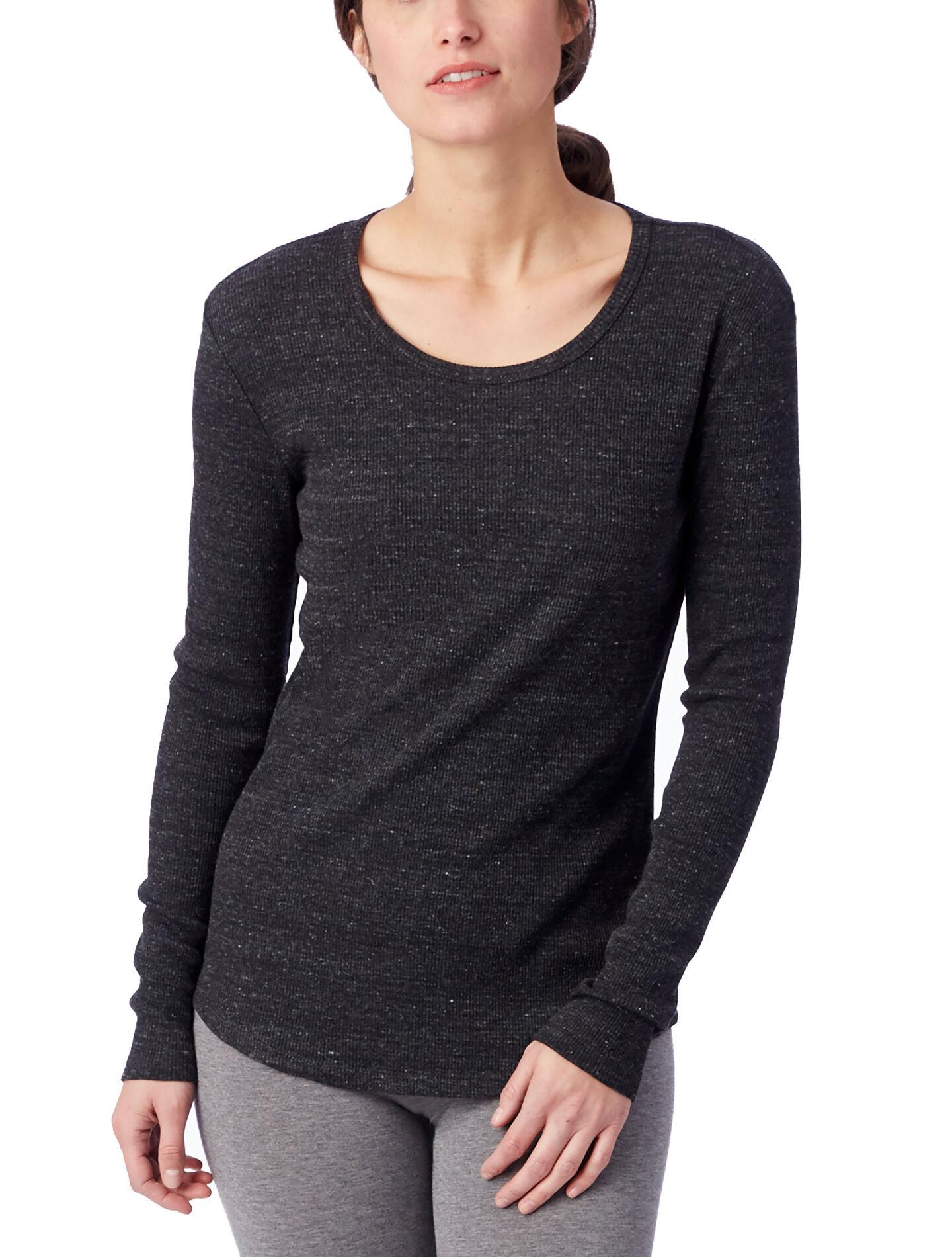 Alternative Apparel Keepsake Eco-Rib Long Sleeve T-Shirt - Eco Black - Size: XS