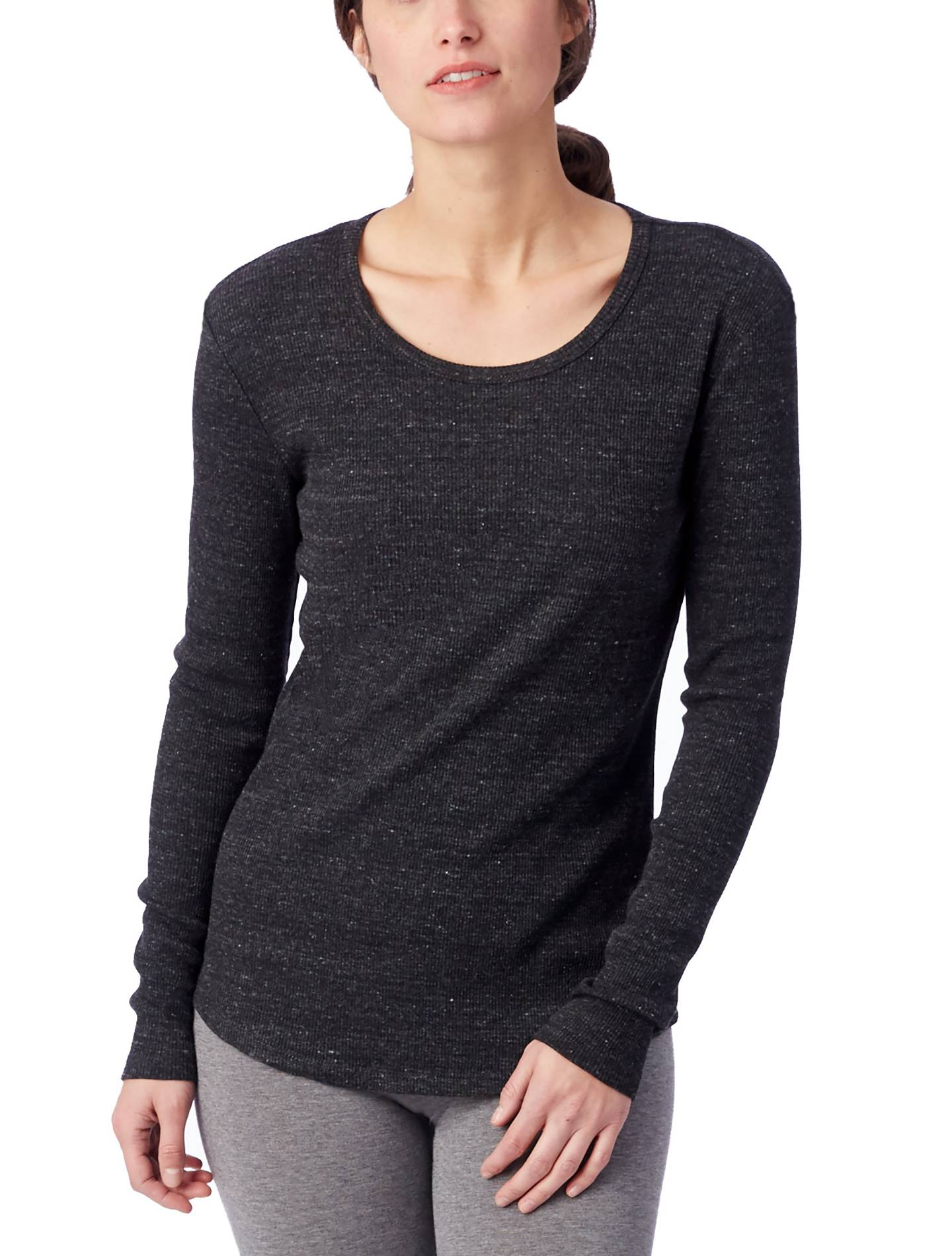 Alternative Apparel Keepsake Eco-Rib Long Sleeve T-Shirt - Eco Black - Size: S