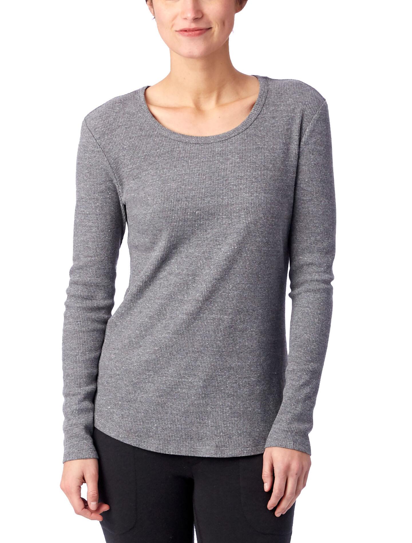 Alternative Apparel Keepsake Eco-Rib Long Sleeve T-Shirt - Eco Grey - Size: S