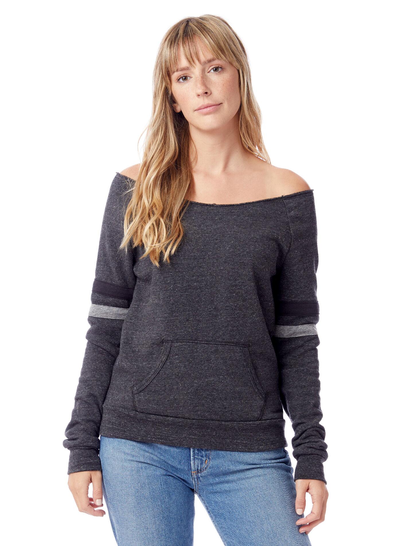 Alternative Apparel Maniac Sport Eco-Fleece Sweatshirt - Eco Black - Size: S