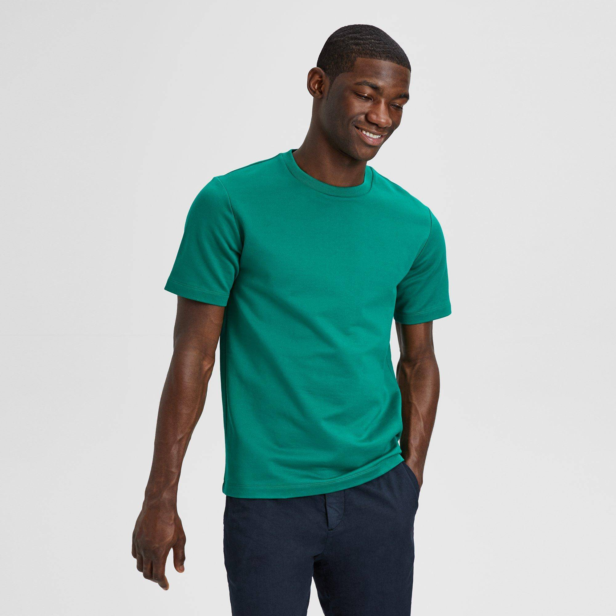 Theory Compact Cotton Terry Structure Tee  - PALM - male - Size: Extra Large