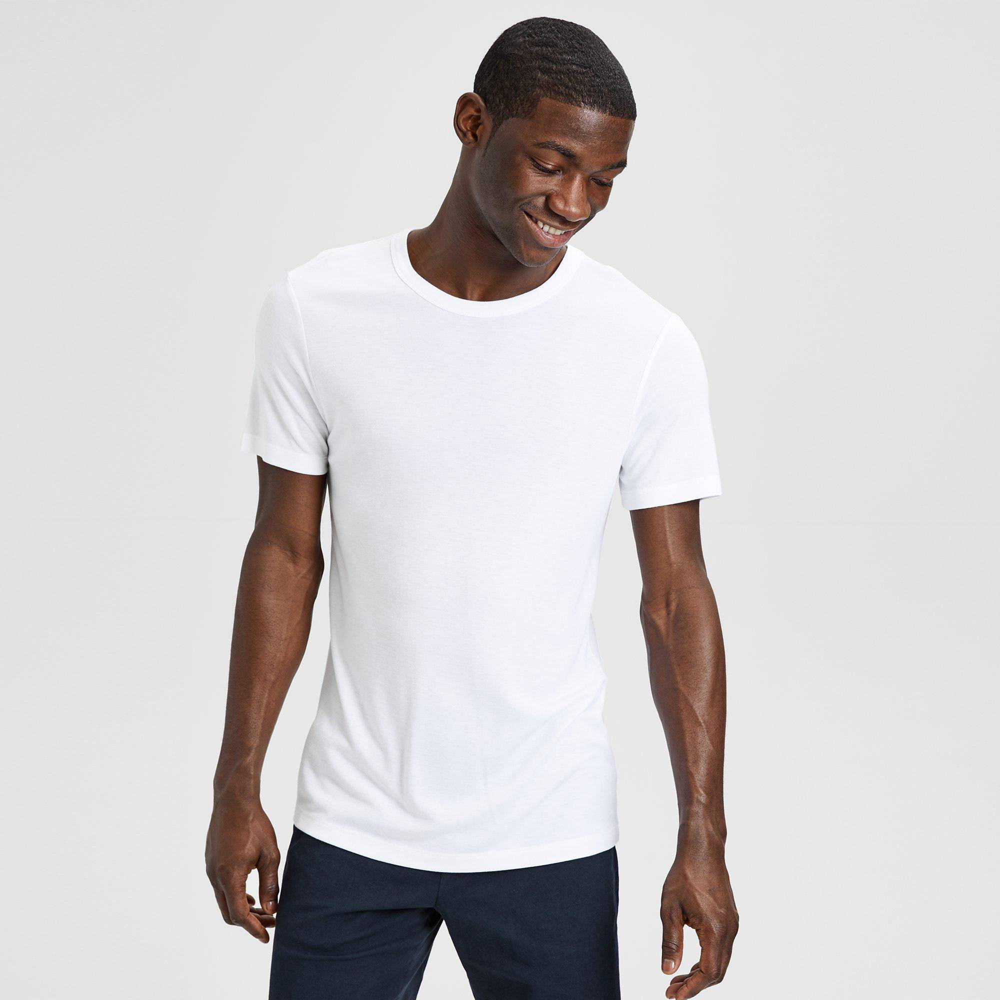 Theory Lyocell Essential Tee  - WHITE - male - Size: Extra Large