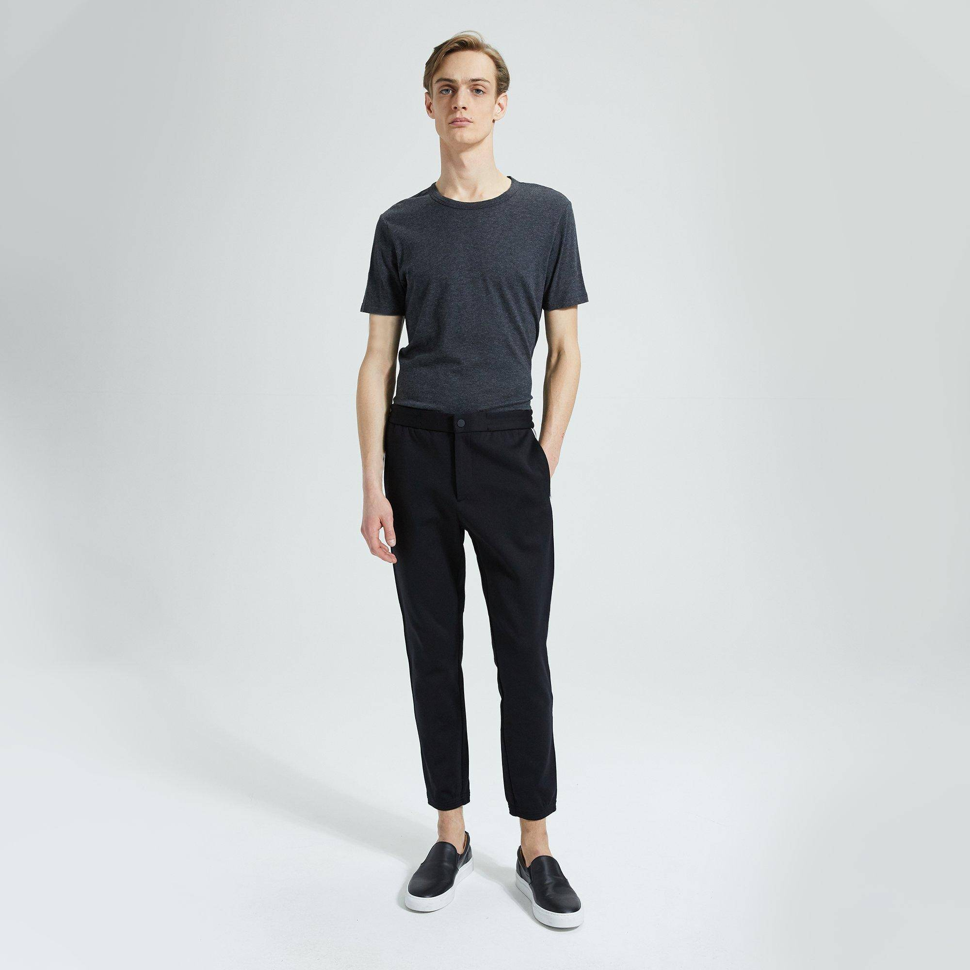 Theory Tech Face Ponte Terrance Pant  - BLACK - male - Size: Extra Small