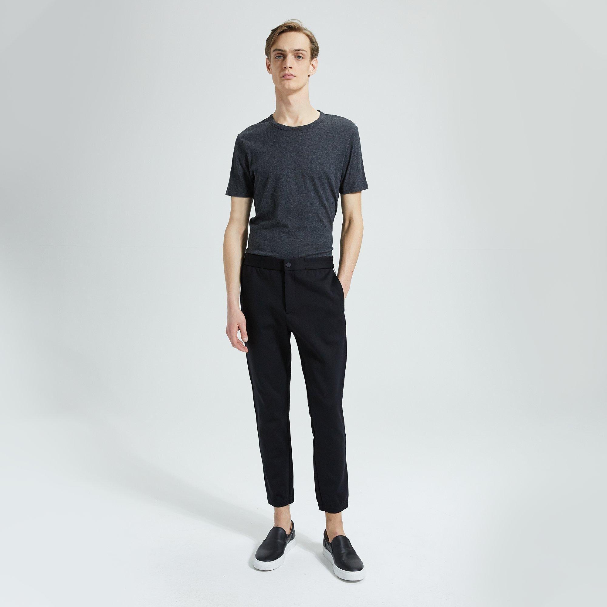 Theory Tech Face Ponte Terrance Pant  - BLACK - male - Size: Large