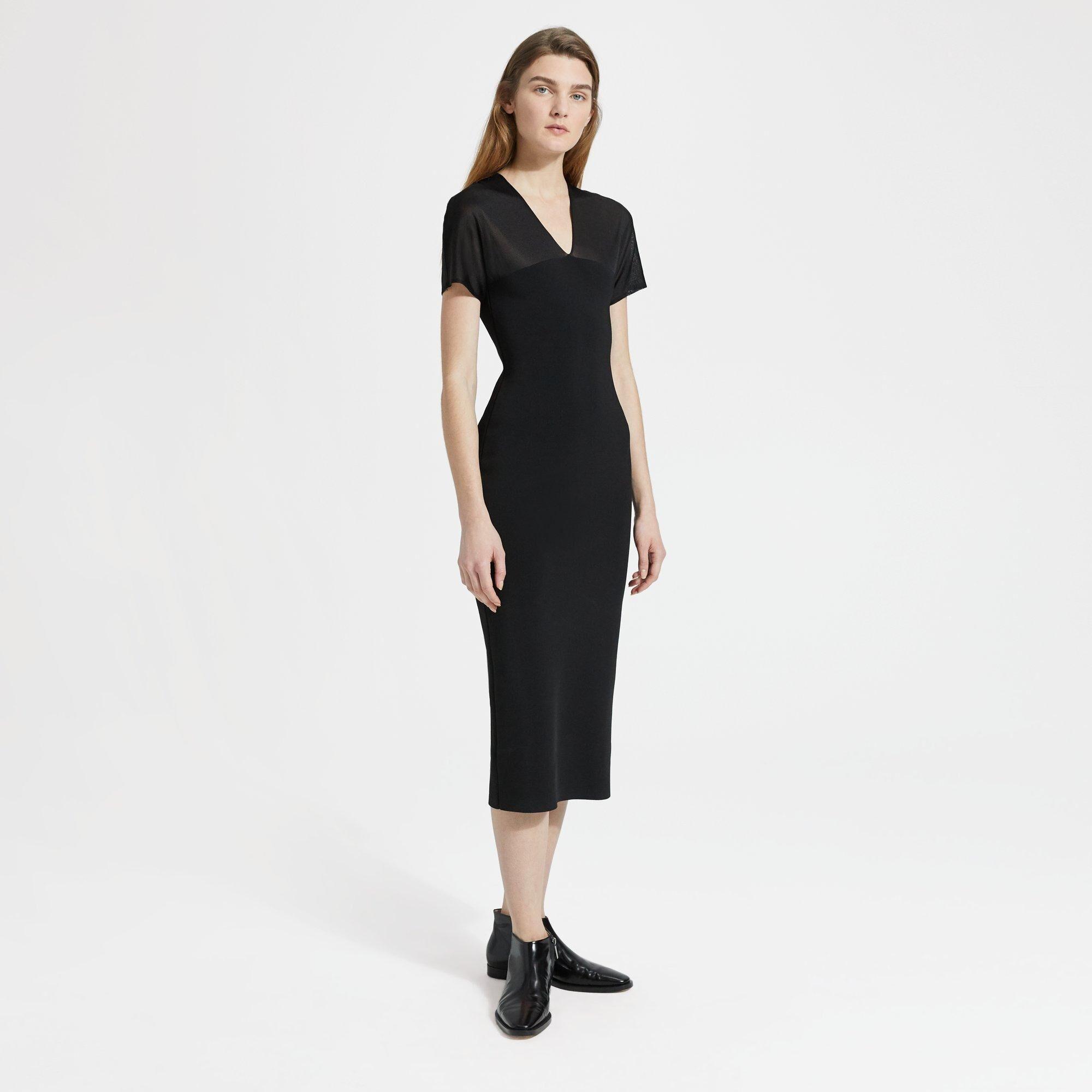 Theory Kimono Dress  - BLACK - female - Size: Large