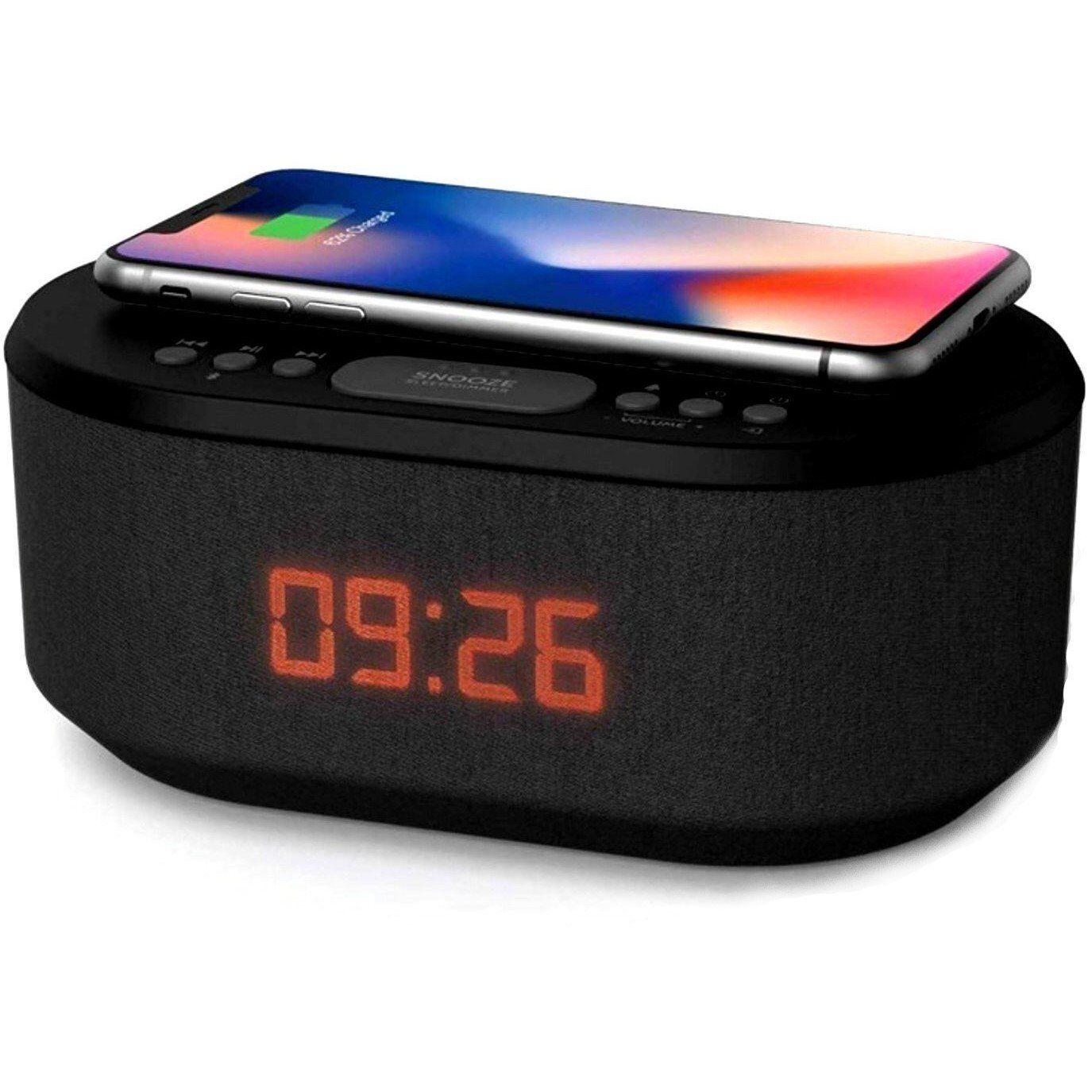 HomeSecuritySuperstore QI Smartphone Charger Clock Radio Hidden Spy Camera 4K UHD WiFi