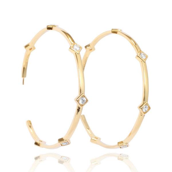 Jackie Mack Lady Luck Large Hoop Earrings