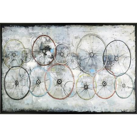 Lorell Bike Wheels Framed Canvas Art