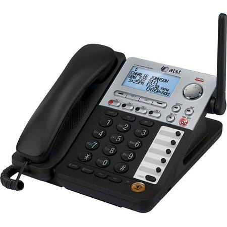 AT&T SynJ SB67148 DECT 6.0 Cordless Phone - Black, Silver