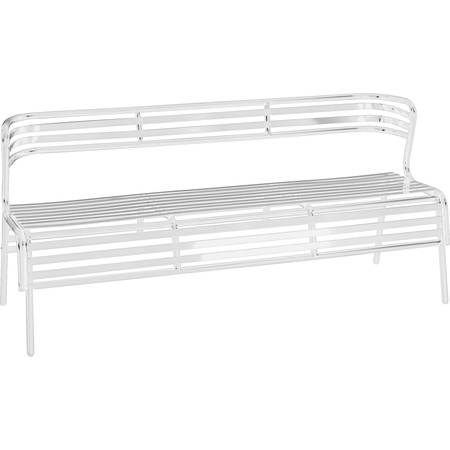 Safco CoGo Indoor/Outdoor Steel Bench with Back