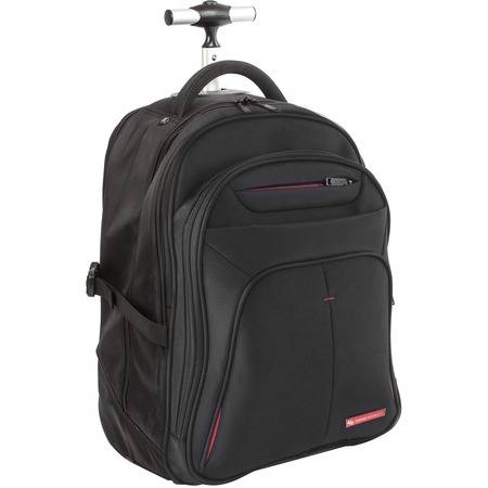 """Swiss Mobility Carrying Case (Rolling Backpack) for 15.6"""" Notebook - Black"""