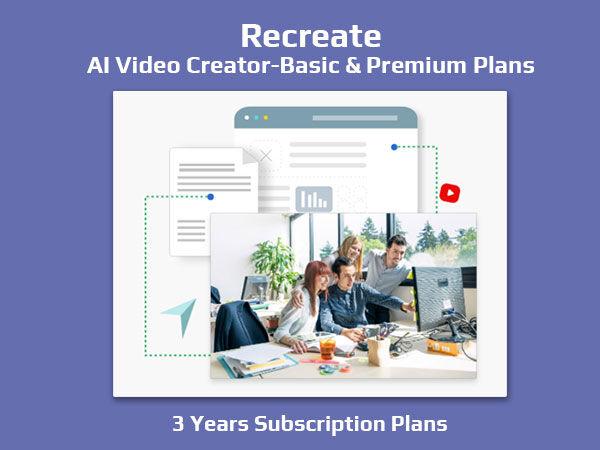 DealFuel Recreate: AI Assisted Video Creator – Basic & Premium Plans / 3 Years