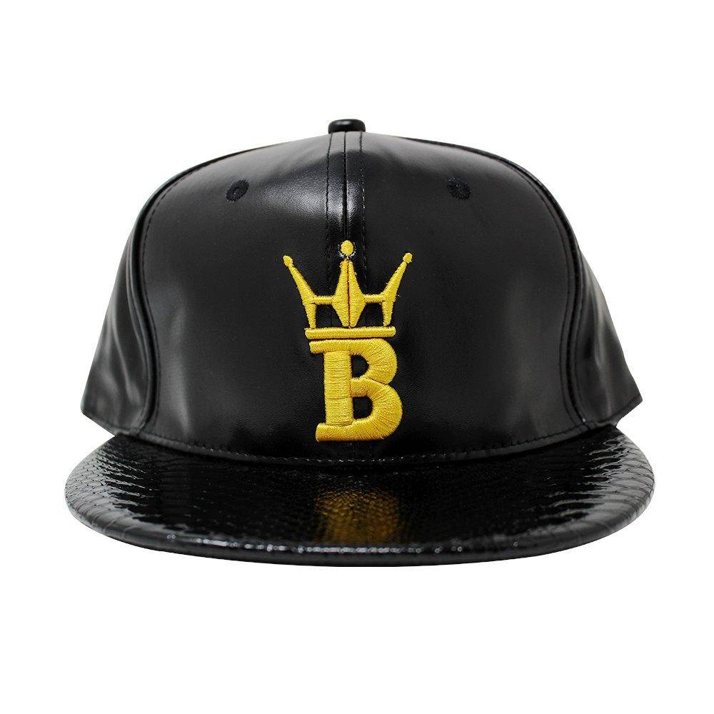 HipHopBling Crown Logo Leatherette Snapback Hat