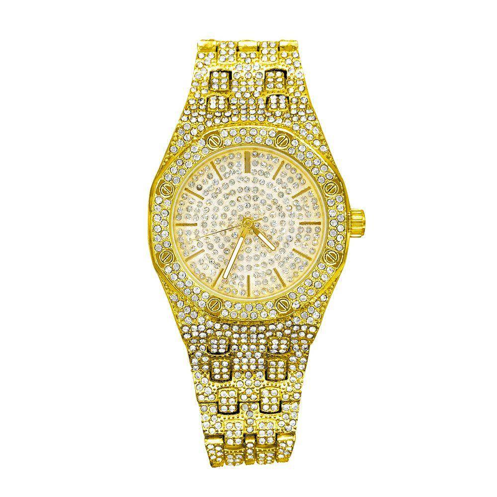 HipHopBling Full Ice Sport Iced Out Bling Hip Hop Watch