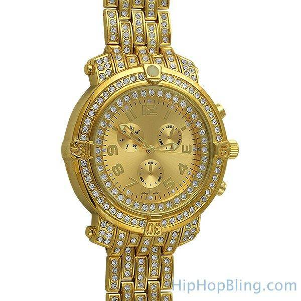 HipHopBling Custom Sport Bling Bling Chronograph Iced Out Watch