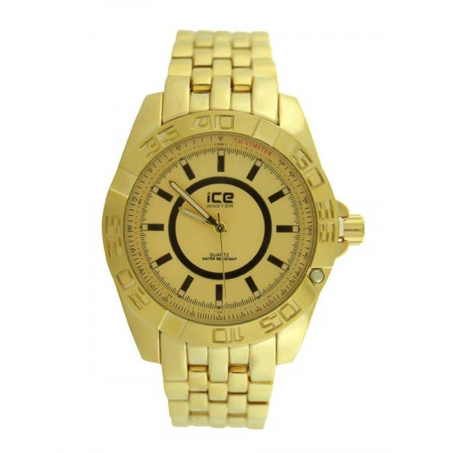 HipHopBling Gold Sport Classic Mens Watch