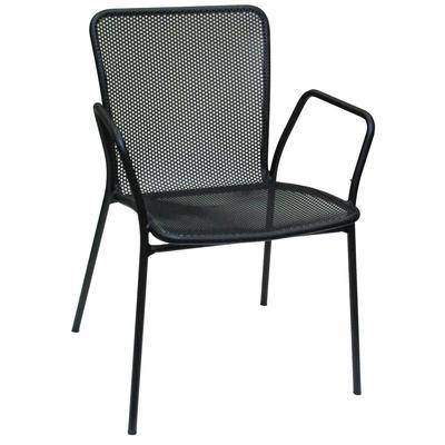 American Tables & Seating 91 Outdoor Armchair - Aluminum, Black
