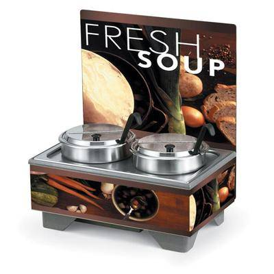 Vollrath 720202102 Full Size Soup Merchandiser Base - Tuscan, Menu Board, 7 qt Accessories, 120v