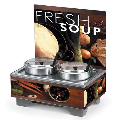 Vollrath 720202002 Full Size Soup Merchandiser Base - Tuscan, 7 qt Accessories, 120v