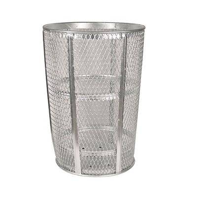 Witt EXP-52 48 Gallon Outdoor Trash Can w/ See Through Mesh, Galvanized Steel