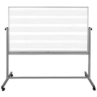 """Luxor Furniture """"Luxor MB7248MM 72"""""""" x 48"""""""" Mobile Double-Sided Music Whiteboard w/ Aluminum Frame"""""""