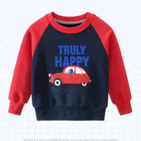 1 Children's Sweater And Velvet Boy Clothing Baby Top