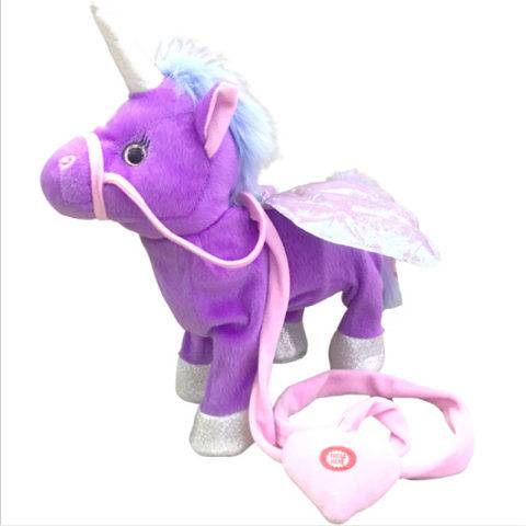 1 Electric Music Dance Cute Unicorn Leash Pegasus Doll