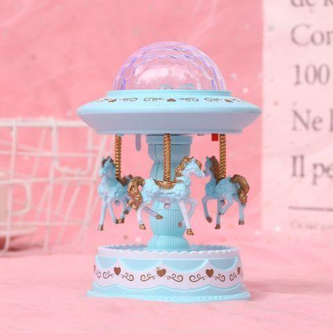 1 Childrens Diamond Shape Cute Carousel Music Box