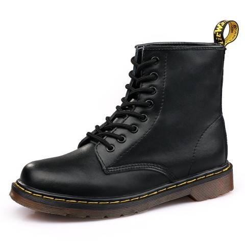 Menily Men's Casual Solid Color Lace-up Martin Boots
