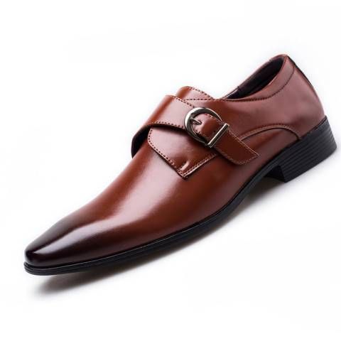 Menily Contracted men's buckle low-heel leather shoes