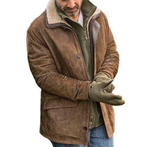 Menily Mens outdoor retro warm cotton jacket