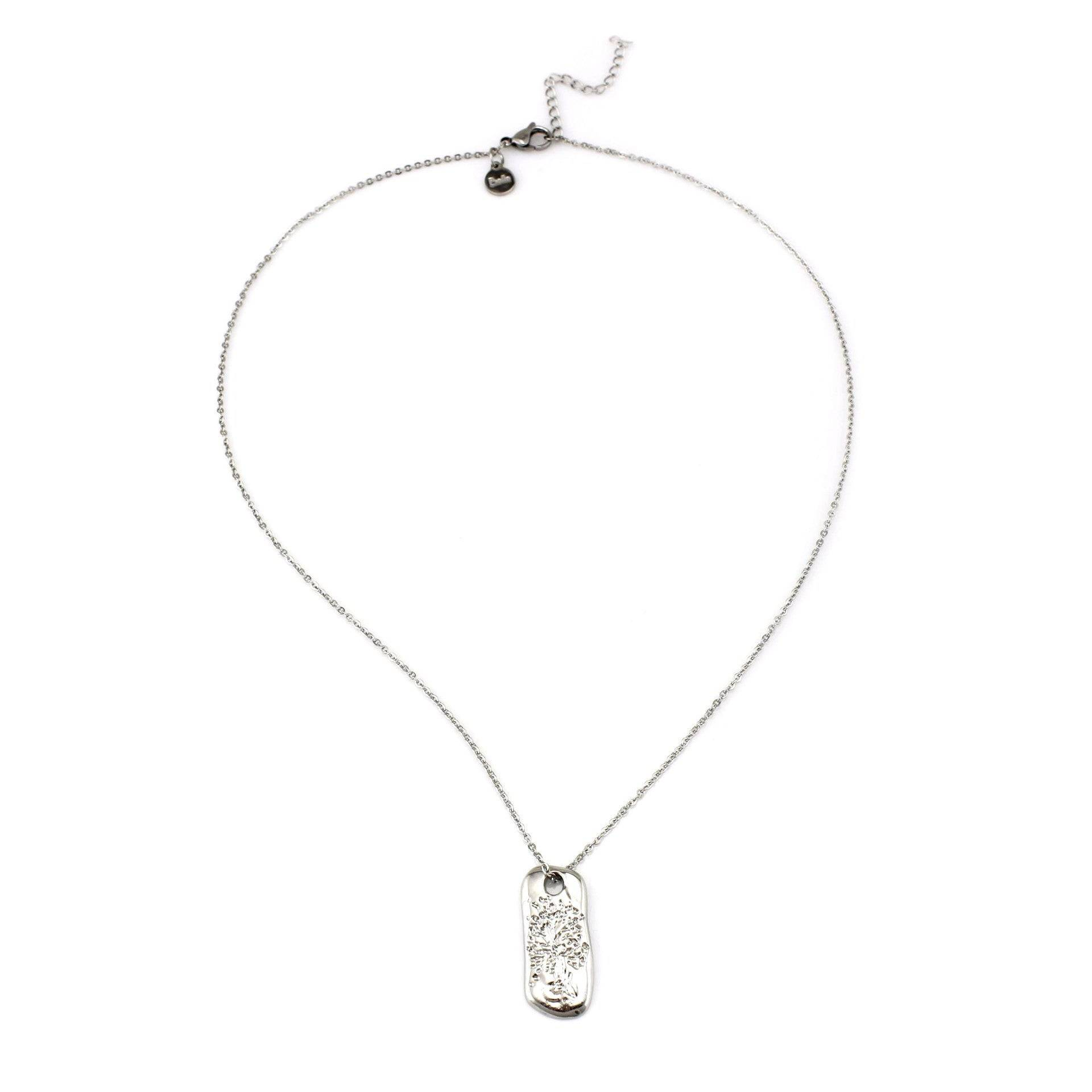 Balla Silver Tree Of Life Pendant Necklace with Stainless Steel Chain