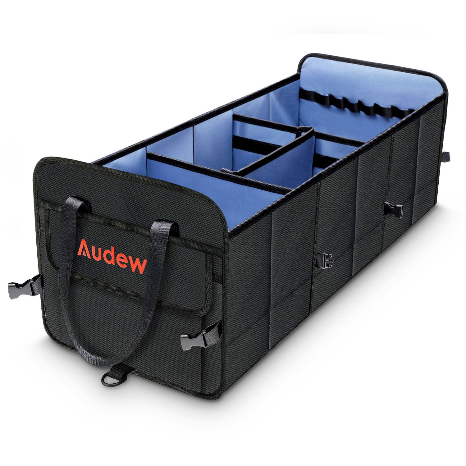 Audew Trunk Organizer Portable Car Storage Bag, Large Space to Store Belongings for SUV, Vehicle, Truck, Auto, Grocery, Home & Garage