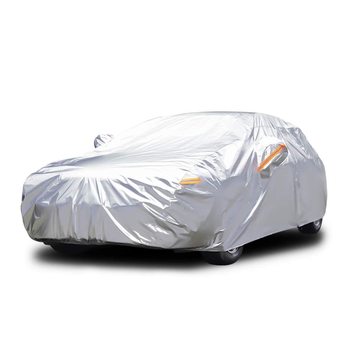 "Audew 6 Layer Premium anti-UV Car Cover For Sedan, Mid-Size SUV Up To 190"""